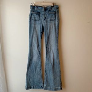 Dittos High Waisted Bell Bottom Jeans